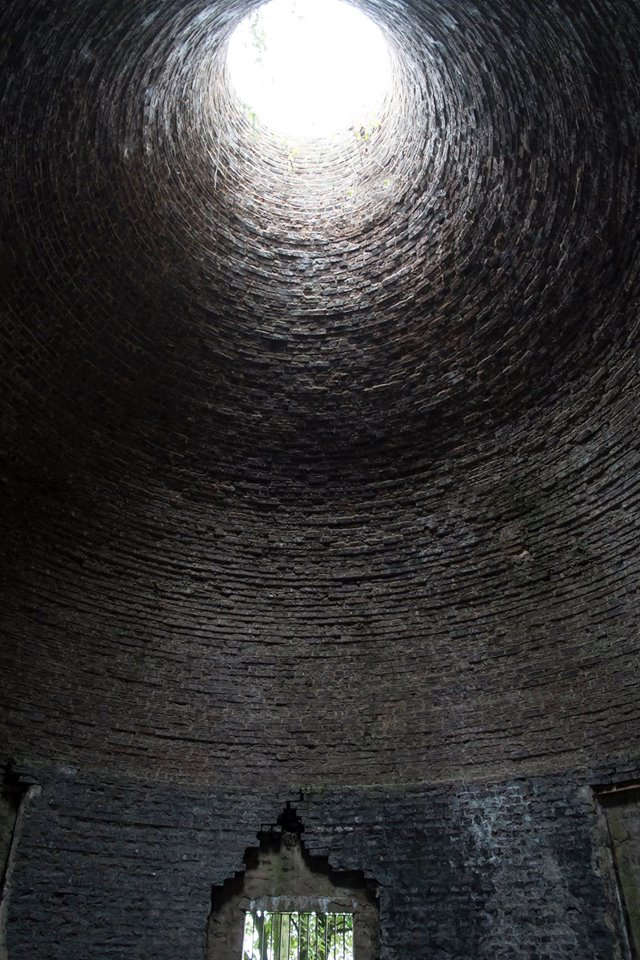 Interior of the kiln