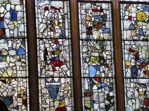Fragmentary east window - St. Denys