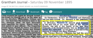 Newspaper-report-1895-Stamford-East-window